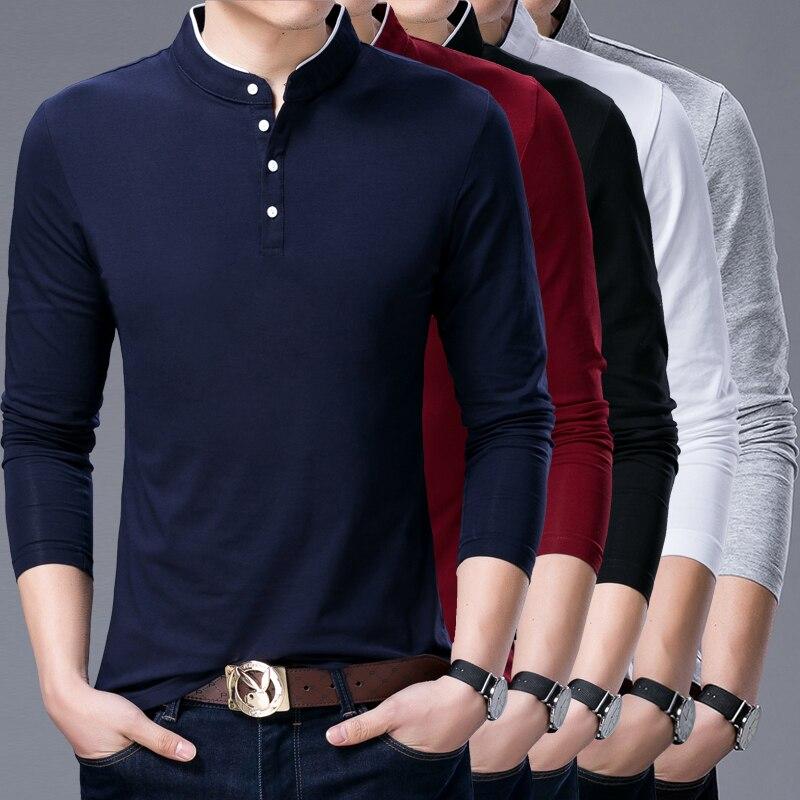 a49cca2e30 Primavera nueva moda hombres de negocios Camisa de manga larga marca Formal  ropa de algodón Casual