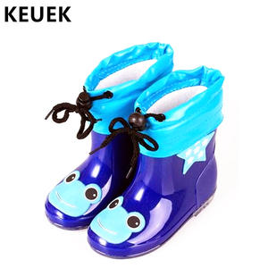 eade1a01e3f4 Fashion Children shoes Waterproof Rainboots PVC rubber Boys Girls Baby  Cartoon shoes Antiskid Kids Water shoes 020
