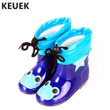 Модная детская обувь непромокаемые резиновые сапоги из ПВХ для мальчиков и девочек детская обувь с героями мультфильмов Нескользящая детская обувь для воды 020