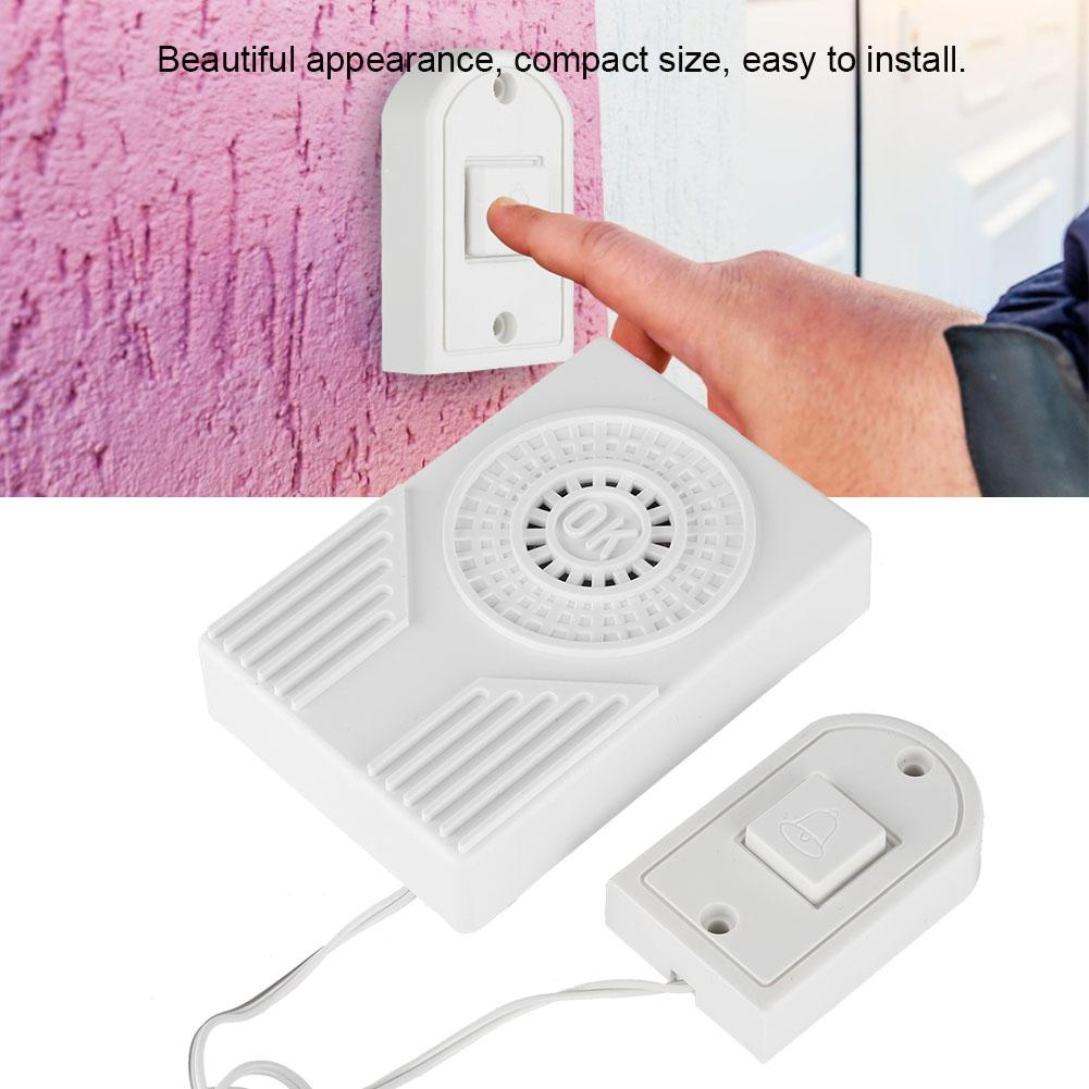 Homesafe Electronic Wired Button Door Bell Alarm Home Security on Sale Hot in Doorbell from Security Protection
