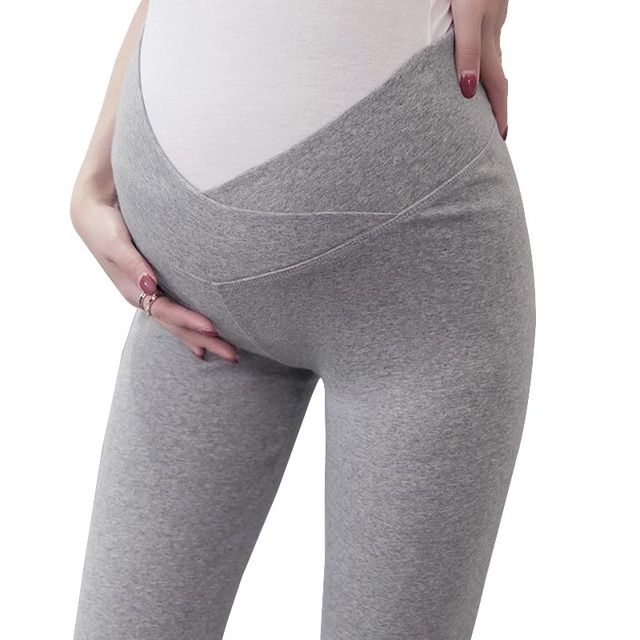 92bbf95b0 Low Waist Abdominal Maternity Pants For Pregnant women Thin New Maternity  Summer Trousers Pregnancy Clothes Pants Gray white