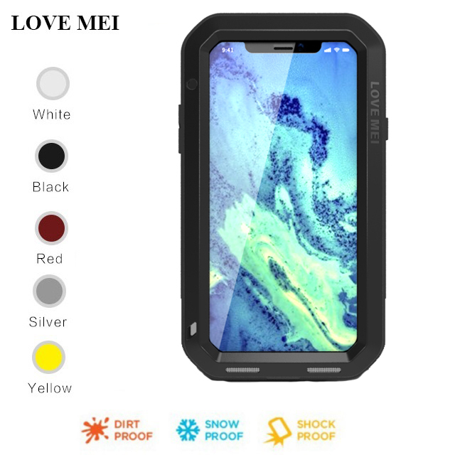 finest selection 8a9bf 52efd US $32.48 |For iphone X LOVE MEI Metal/Aluminum Powerful Waterproof  Shockproof Gorilla Glass Cover Case For Apple iphone X/6/6S/7/8/Plus -in  Fitted ...