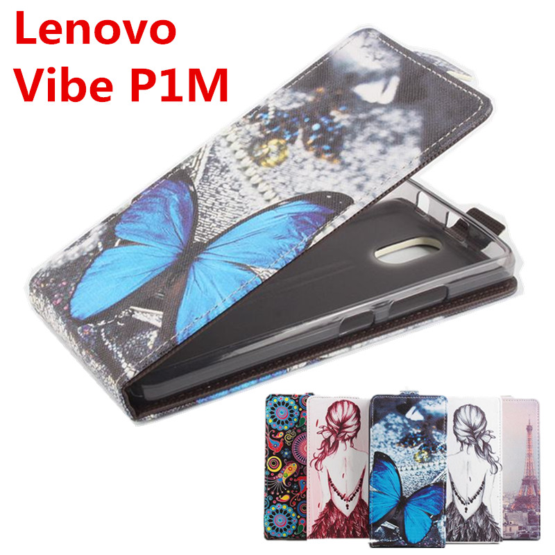 100% High Quality Leather Case For Lenovo Vibe P1M Flip Cover Case housing For Lenovo Vibe P 1 M Mobile Phone Cases
