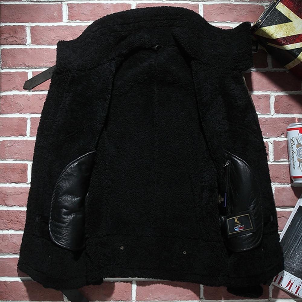 HTB15SthXrr1gK0jSZR0q6zP8XXa8 2019 Fashion 100% Quality Real Sheepskin Fur Men Coat Genuine Full Pelt Sheep Shearling Male Winter Jacket Brown Men Fur Outwear