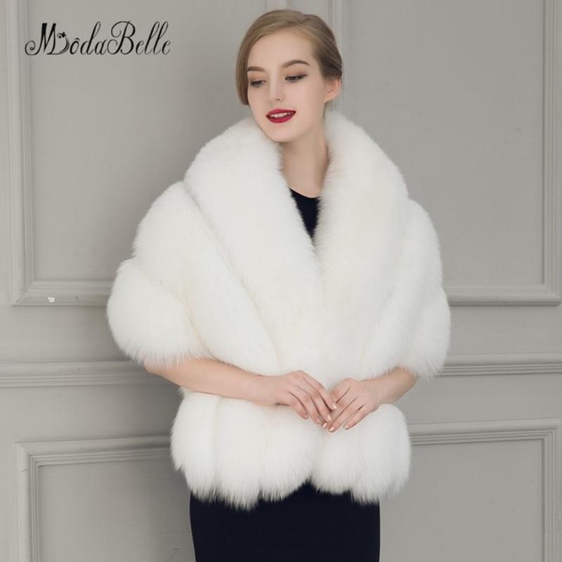 Modabelle Faux Fur Shrugs Bridal Jacket Black Bolero Mariage Wraps For Bridesmaid Witte Mantel Womens Capes Wedding Cloak