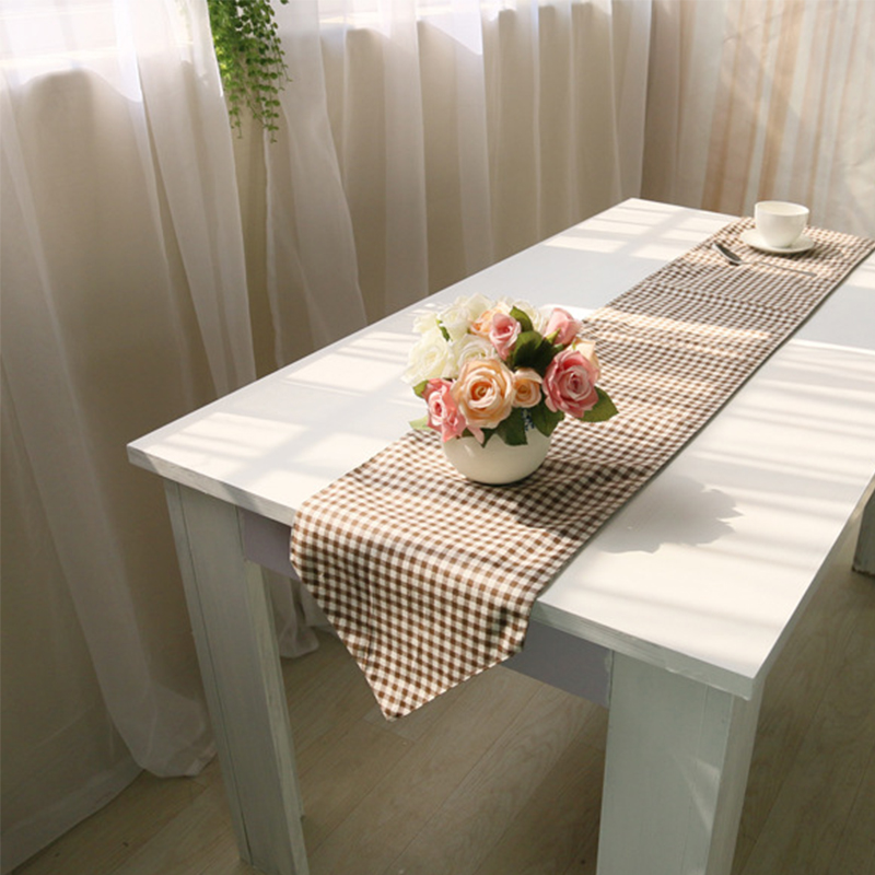 Table Runners Linen Lattice Pattern Modern Tablecloths Runners Decoration  Table Noel Wedding Party Bed Coffee Table Corredores In Table Runners From  Home ...