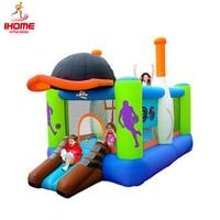 IHOME children's slide BTBOY Child inflatable indoor playground home trampoline belt slide cartoon sports trampoline plaza