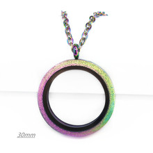 Hot Selling Stainless Steel Sparkle locket 25mm 30mm Twist Floating Locket Screw Pendant With (50cm)chain Necklace