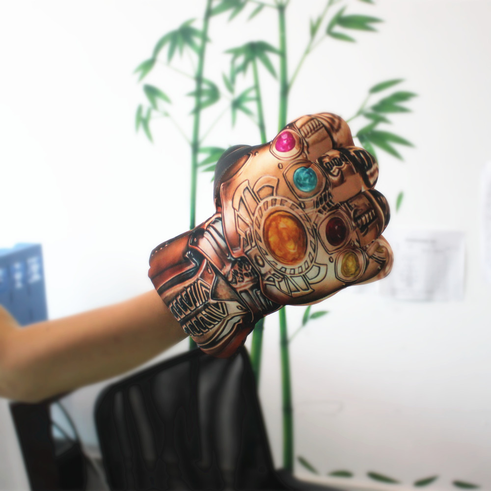 1 PCS Kids Cosplay Infinity Gauntlet Avengers 3 Infinity War Thanos Gloves Cosplay Halloween Prop Costume Plush Toys Children