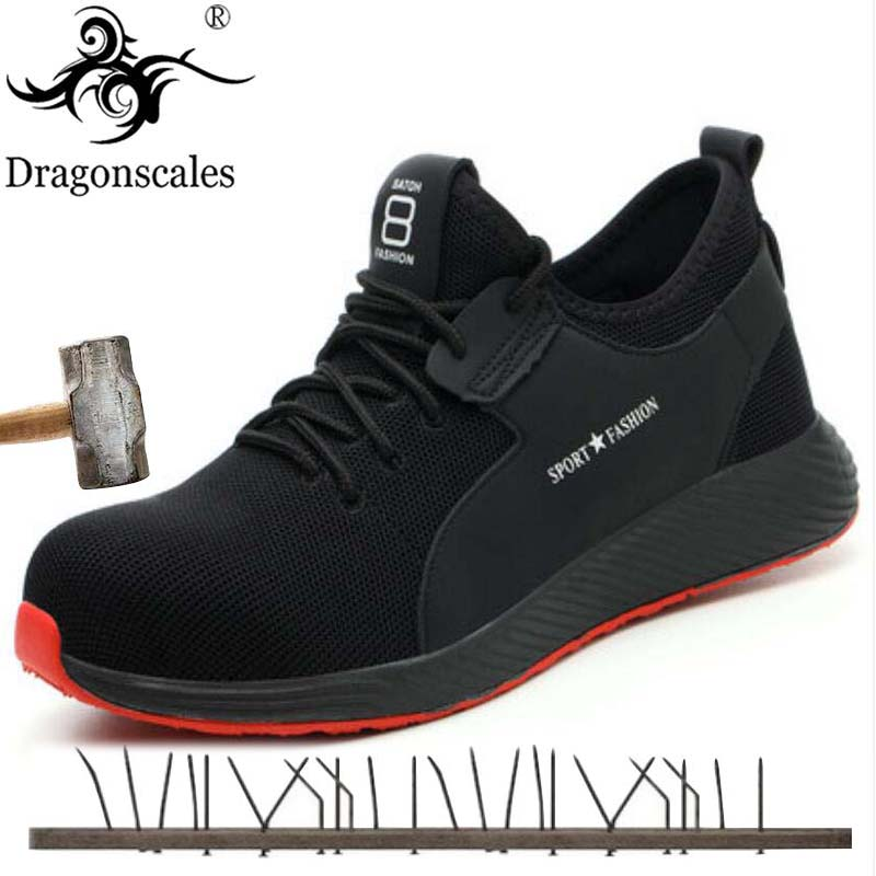 Summer Breathable Comfort High Quality Work Safety Shoes Trend Fashion Wear-resistant Anti-piercing Sole Protective Shoes