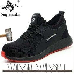 Verão Conforto Respirável de Alta Qualidade Sapatos de Segurança do Trabalho Tendência Fashion Wear-resistant Anti-perfuração de Sola Sapatos de Proteção