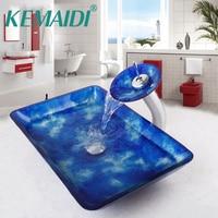 Bathroom Artistic Tempered Glass Vessel Vanity Hand Print Color Sink Bowl Tree149