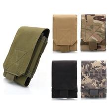 2017 Baru 5.5-6.0 inci sarung tangan MOLLE Tentera Camo penyamaran Beg cangkuk gelung tali pinggang sarung perlindungan kes ZM14