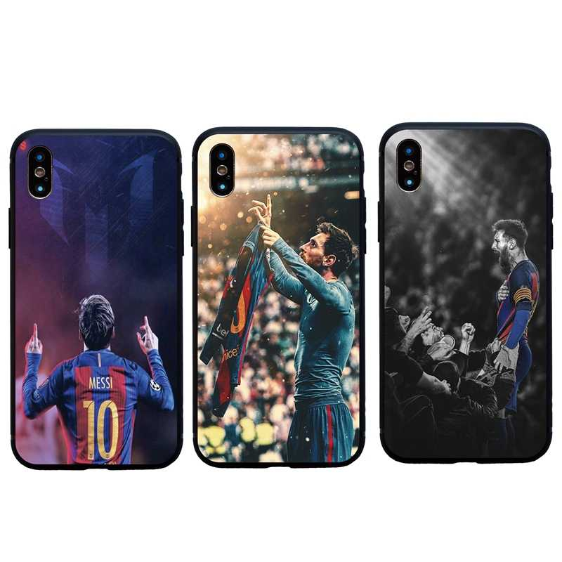 4ffe23f8817 Football Lionel Messi Sign Soft Silicon Case For iPhone 6 6s Plus 7 8 Plus  Funda