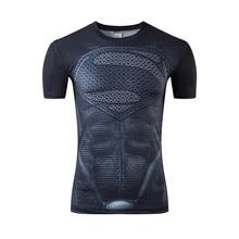 2016 summer muscle man Hollywood blockbuster superhero captain America, superman space marines lycra compressed T-shirt