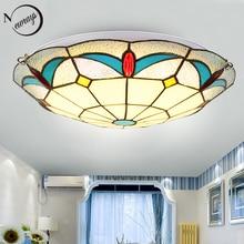 Noridc classical glass ceiling lamp LED with 2 lights modern vintage ceiling lights for living room hotel bedroom bathroom kids
