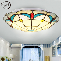 Noridc classical glass ceiling lamp LED with 2 lights modern vintage ceiling lights for living room hotel bedroom bathroom kids