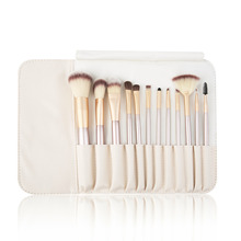 12pcs/kits Classic Beige Wood Handle Cosmetic Professional Makeup Brushes Set Kit For Face Make Up Beauty top quality