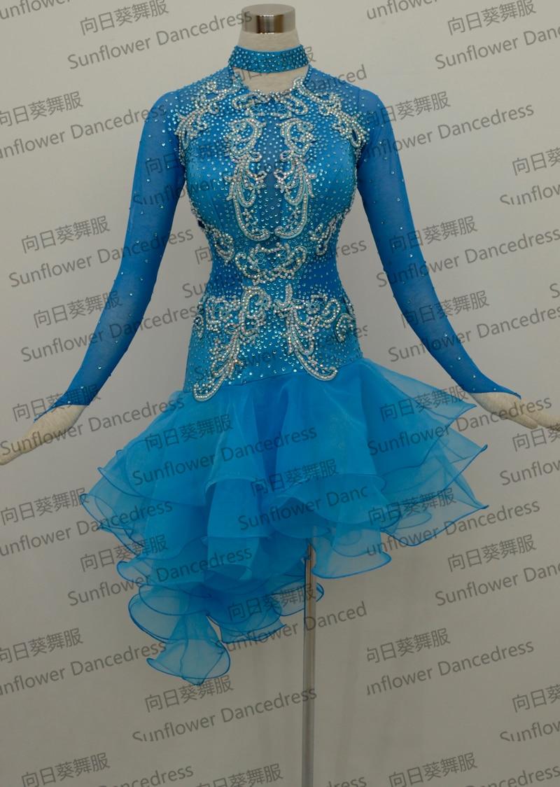 وصول جديدة ، رومبا جايف تشاتشا الرقص اللاتينية اللباس ، اللباس قاعة ، ملابس الرقص ، اللباس اللاتينية ، التانغو السالسا سامبا ، اللون الأزرق