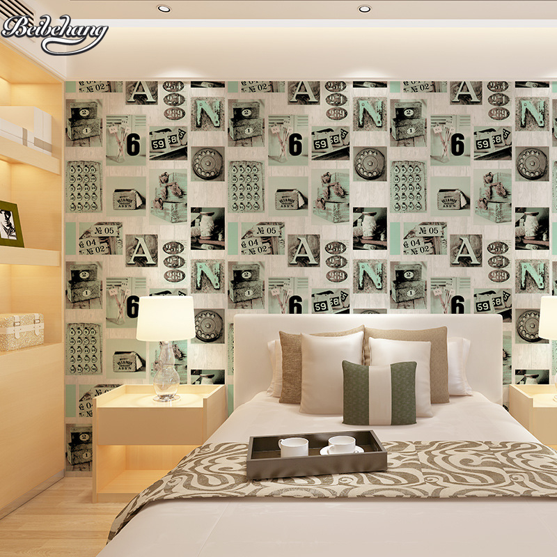 beibehang and modern personality, fashion, letters, wallpaper, bedroom, living room, restaurant, cafes, hotel works wallpaper personality traits and interpretaion