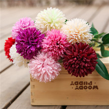 Klonca Luxury Handmade Silk Flower 35cm 10pcs/lot Artificial Chrysanthemum Fake for Home Wedding Decoration