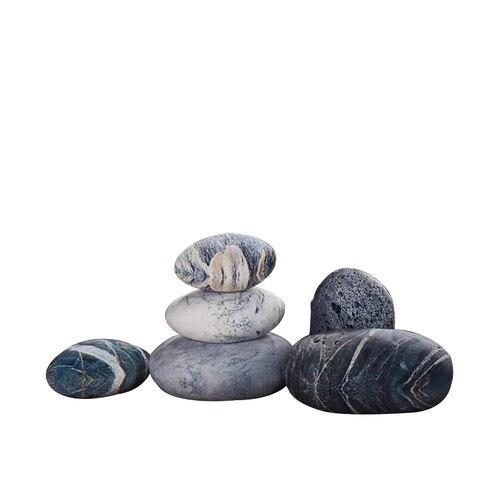 dorimytrader um conjunto de pedra mista forma travesseiro grande pelucia simulacao macia almofada de pedra
