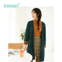 INMAN new autumn art style sweaters loose casual cardigan women's long style