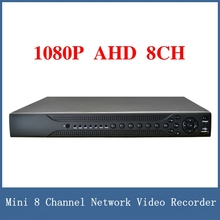 Newest 1080P CCTV AHD 8CH DVR , Mini 8 Channel Network Video Recorder , VGA / HDMI Full HD H.264 P2P Cloud Support 3G/WIFI