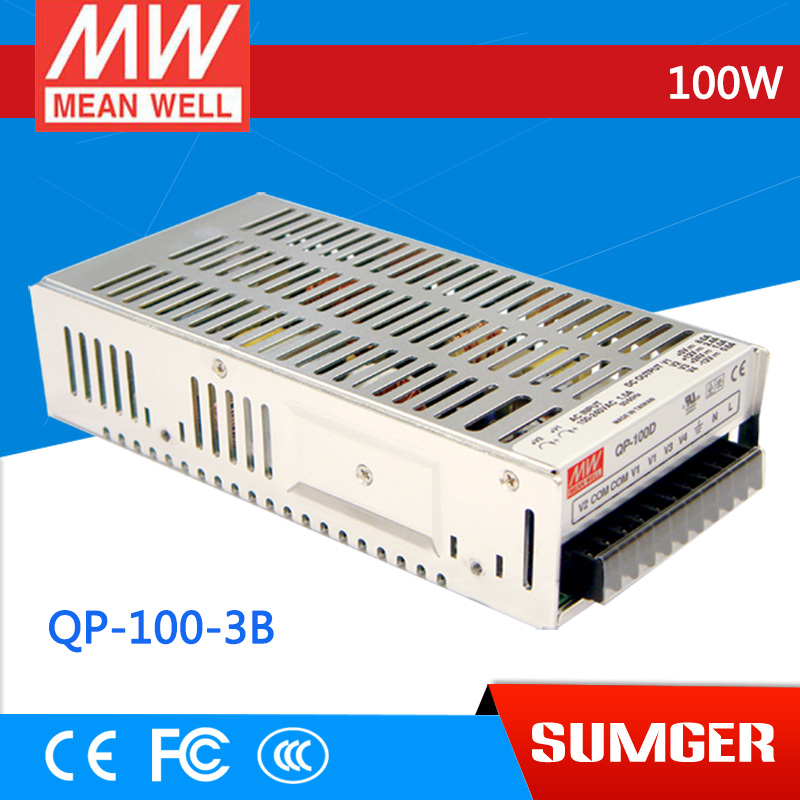 1MEAN WELL original QP-100-3B meanwell QP-100-3 100W Quad Output with PFC Function Power Supply стетоскопы b well стетоскоп механический b well ws 3