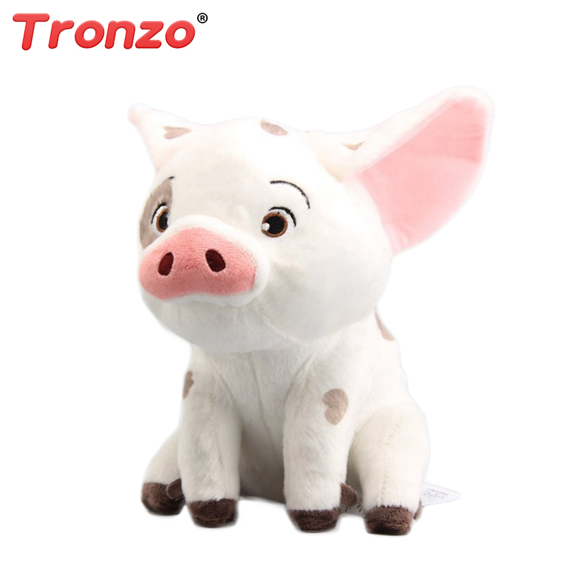 Tronzo 20cm Moana Pet Pig Pua Plush Toy Cute Cartoon Pig Stuffed Animal Soft Toys For Girl Easter Gift For Baby Kids fancytrader lovely high quality cute pig toy 35 90cm giant cute big plush stuffed pig animal kids gift free shipping ft90489