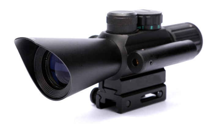Red Green Mil-Dot Reticle Hunting Rifle Scope Side Mounted Airsoft Target Riflescope With Red Laser Sight