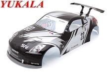 YUKALA 1/10 rc car parts PVC Painted shell body 190mm shell NO: 006 black