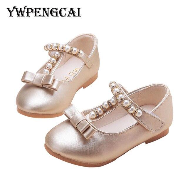6256eef08c8 Todos os Tamanhos 21-35 Calçados Infantis Meninas Princesa Strass Sapatos  Beading Vestido de Festa