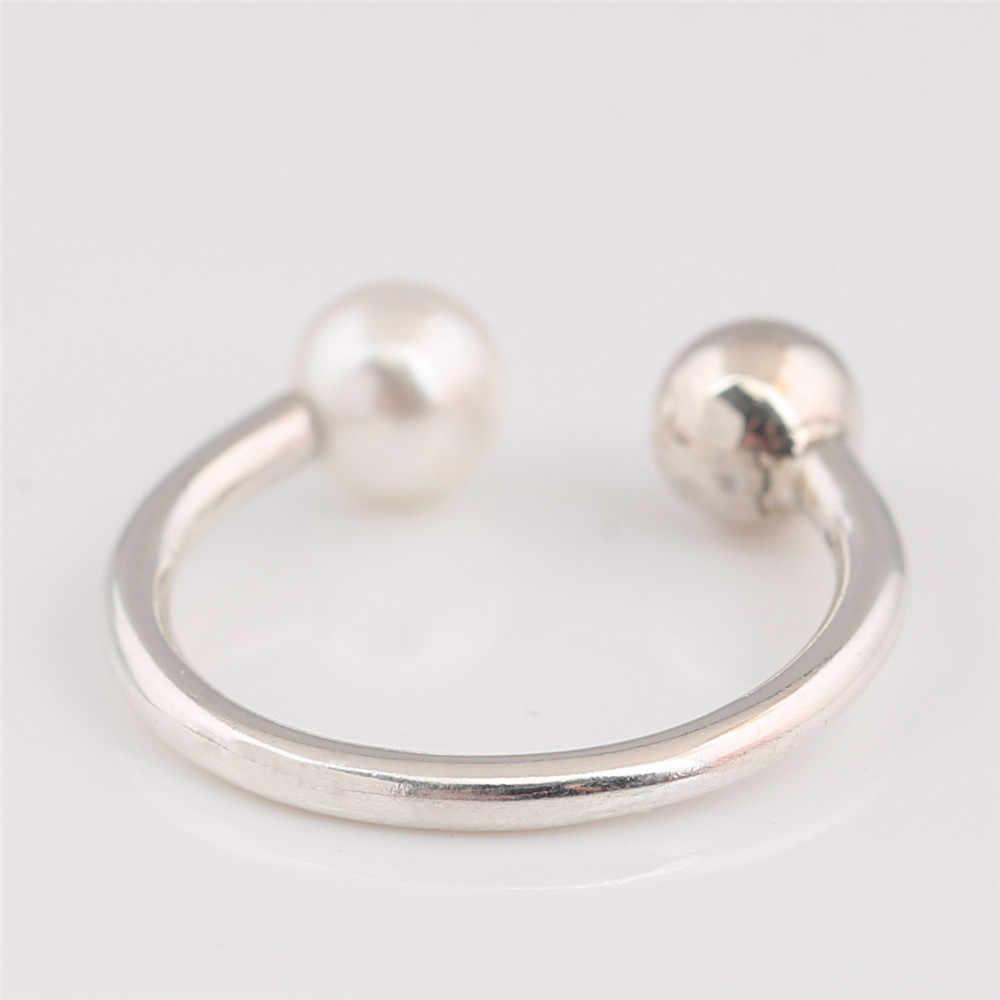 خاتم فضة استرلينية 925 أصلي من الهدال ، خاتم لؤلؤ معاصر ، مجوهرات أوروبية لؤلؤية