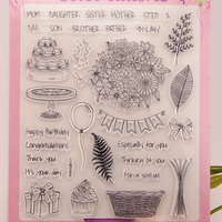 Scrapbook DIY Flower A4 Carimbo ACRYLIC Clear STAMPS FOR PHOTO Timbri SCRAPBOOKING Stamp