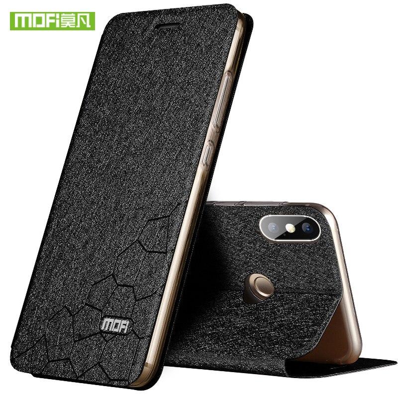 Para Xiaomi Redmi Nota 5 Pro Caso Capa para Nota Redmi 5 Pro Silício Luxury Leather flip Original Caso Mofi para o Caso Nota Redmi 5