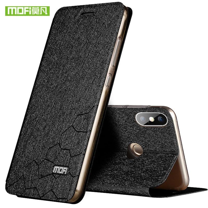 Para Xiaomi Redmi Nota 5 Pro funda para Redmi Nota 5 Pro Silicon lujo Flip cuero Original Mofi caso para Redmi Nota 5 caso