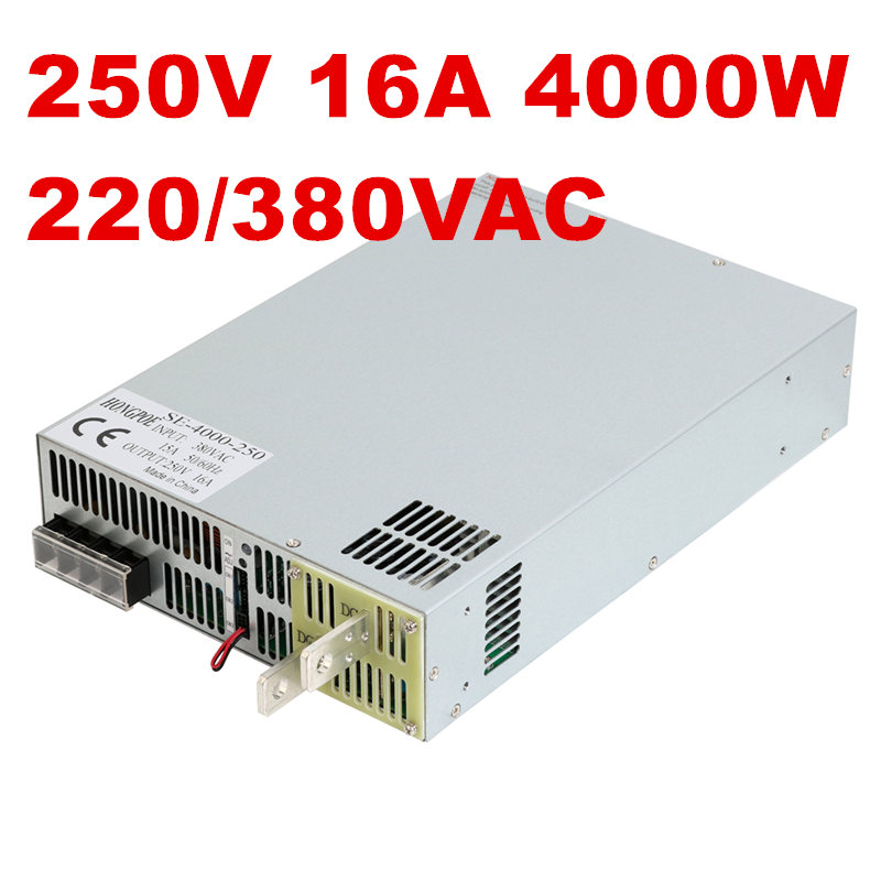 цены 4000W 250V 16A DC25-250v power supply 250V 16A AC-DC High-Power PSU 0-5V analog signal control SE-4000-250 220 277 380VAC
