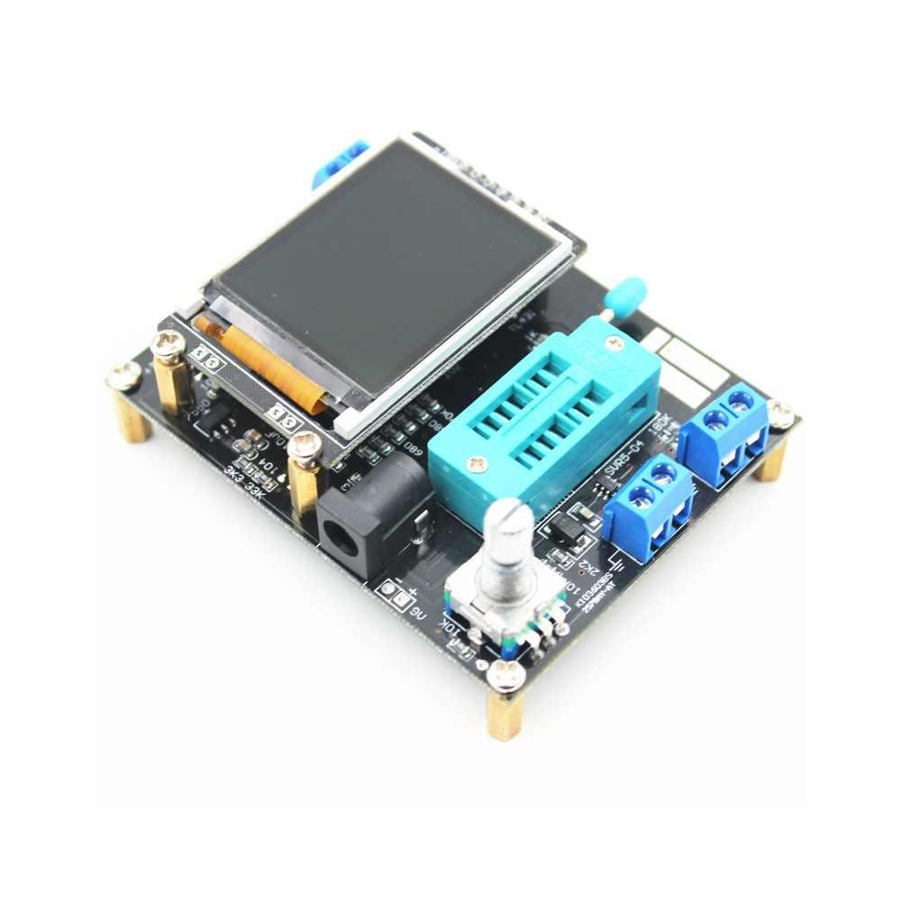 GM328 الترانزستور اختبار متعدد الاستخدامات الرقمية Multimeters ديود السعة الجهد التحقيق السيارات تتراوح PWM موجة مربع إشارة متر