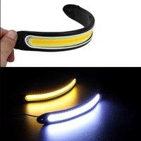 High Quality DRL Daytime Running Fog Driving Light 12V COB LED White Yellow Turn Light New