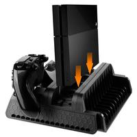 EastVita Vertical Stand with Cooling Fan and Dual Controllers Charging Station for PS3/PS4/PS4 Pro