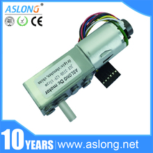 hot sale pure metal ASLONG JGY-370B 12v dc worm gear motor specifications with encoder