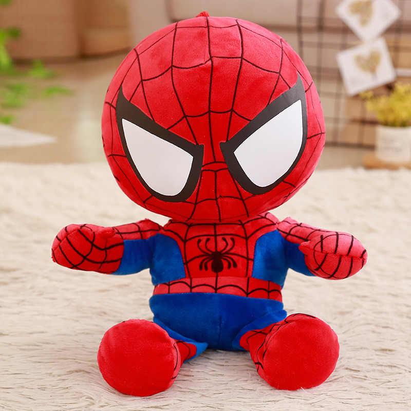 1pc 35cm macio recheado super herói capitão américa homem de ferro spiderman brinquedos de pelúcia os vingadores filme bonecas crianças presente aniversário