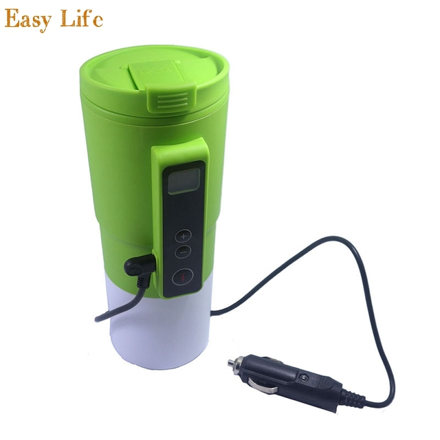 Car Heating Cup Stainless Steel Thermos Travel Mug Insulated Coffee Thermal Flask 12v Auto