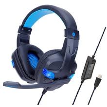 Internet Bar Gaming Headset 7.1 Surround Sound Backlight Gamer Headphone with Adjustable MIC Head-mounted E-sports Earphone все цены