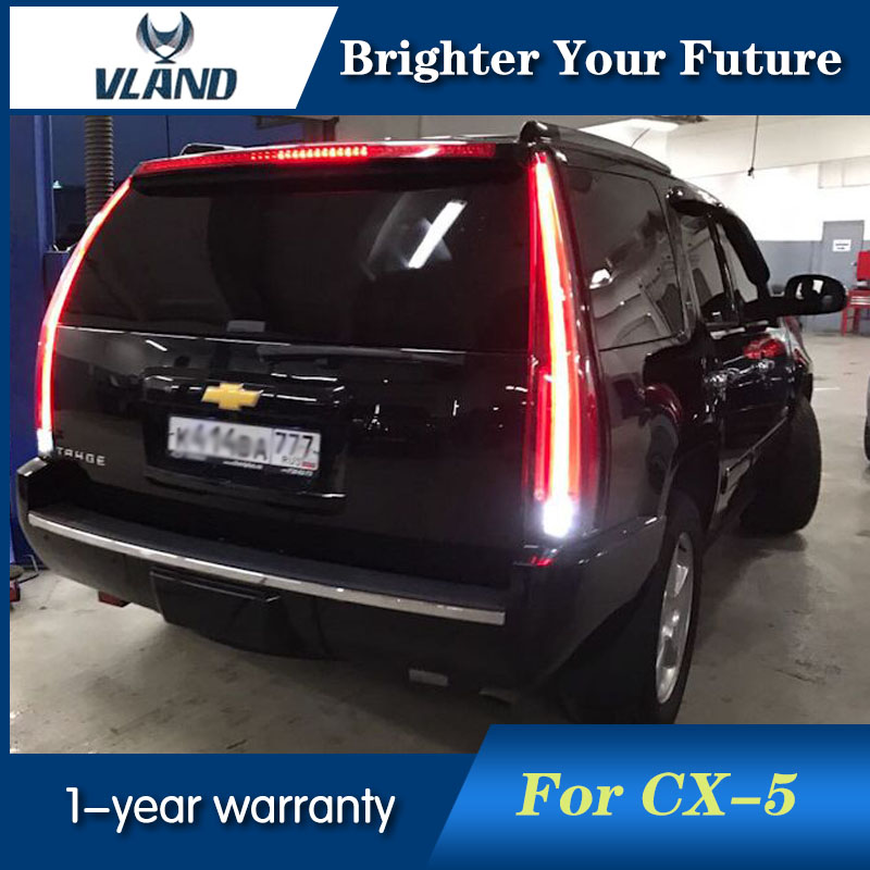 VLAND 2Pcs Rear Lamp LED Tail Lights For Tahoe GMC Yukon Chevrolet Chevy Suburban 2007-2014 Tail Lights With Yellow Turn Sign chevrolet tahoe у дилера