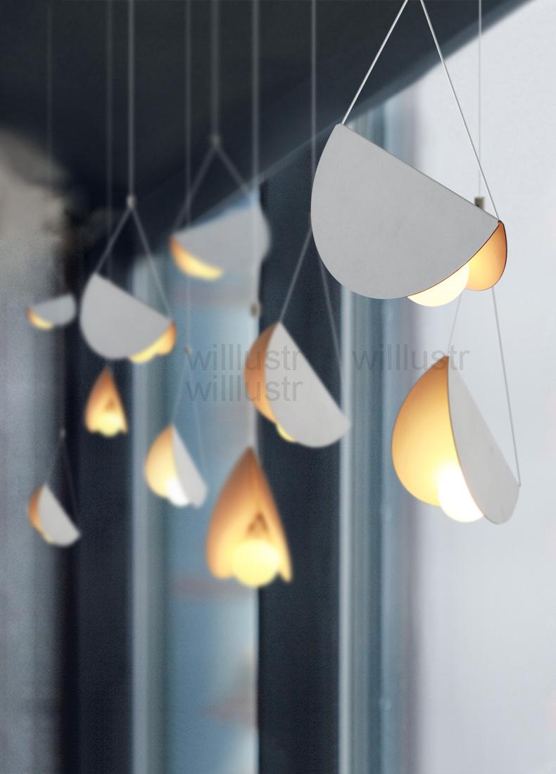 Lampe Suspension Papier Design us $59.5 15% off|flying folded paper metal origami pendant lamp art iron  suspension light cafe dinning room restaurant hotel bar hanging