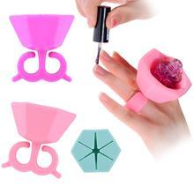 Hot Best Deal Beauty Girl Soft Flexible Durable Milti Wearable Nail Polish Bottle Holder Fits All Finger Nov.17