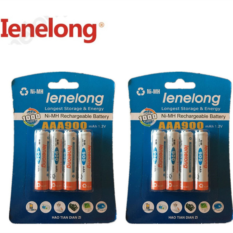 8pcs/lot Original <font><b>AAA</b></font> 1.2V 600mAh Ienelong <font><b>rechargeable</b></font> <font><b>AAA</b></font> Ni-MH <font><b>battery</b></font>