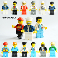 Smartable 12pcs Building Blocks Figures Brick Set Toys For Children Compatible Legoing City Figure Doctor 12